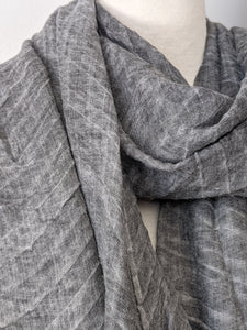 The Accordion Scarf- Charcoal Gray
