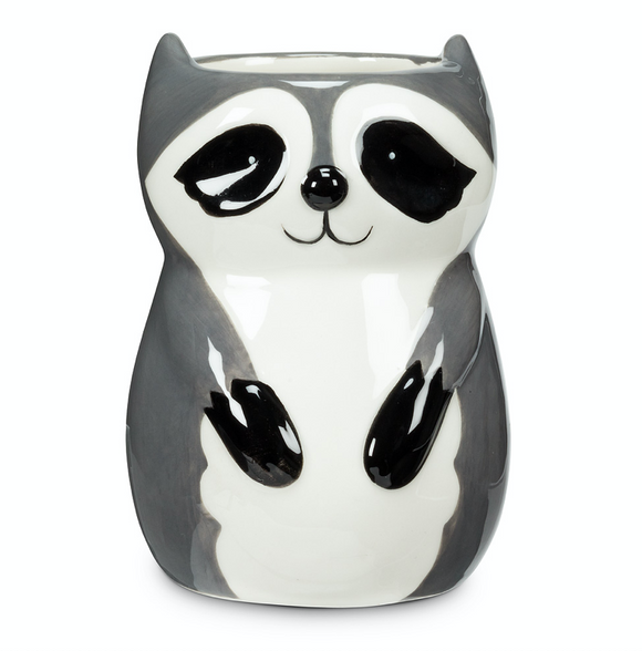 Sitting Raccoon Planter/Vase