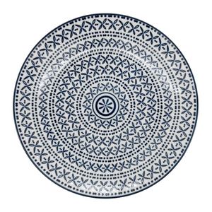 Blue Stitch Porcelain Plate