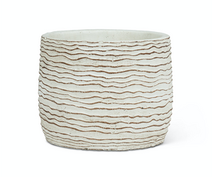 White Wavy Ripple Planter