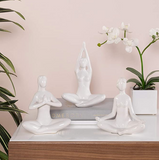 Yoga Ceramic Decor Figure