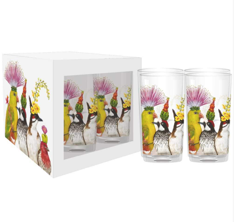 The Entourage Drinking Glasses, Set of 4