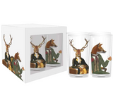 Lords Winston & Edward Drinking Glasses, Set of 4