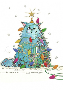 Kooky Blue Noel Cat