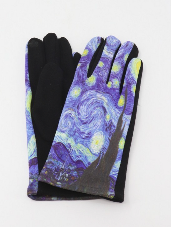 Vincent Van Gogh The Starry Night Gloves