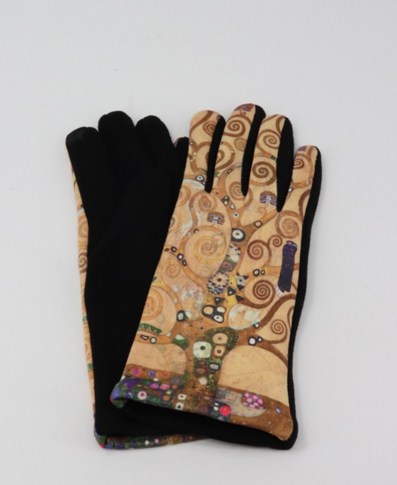 Tree of Life Gustav Klimt Gloves
