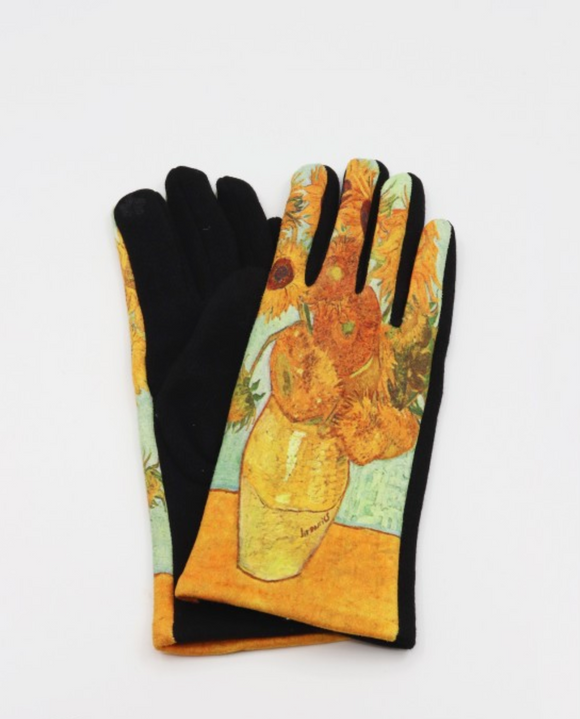 Sunflowers Vincent Van Gogh Gloves
