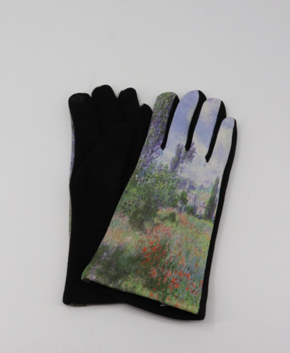 Lane in Poppy Fields Monet Gloves