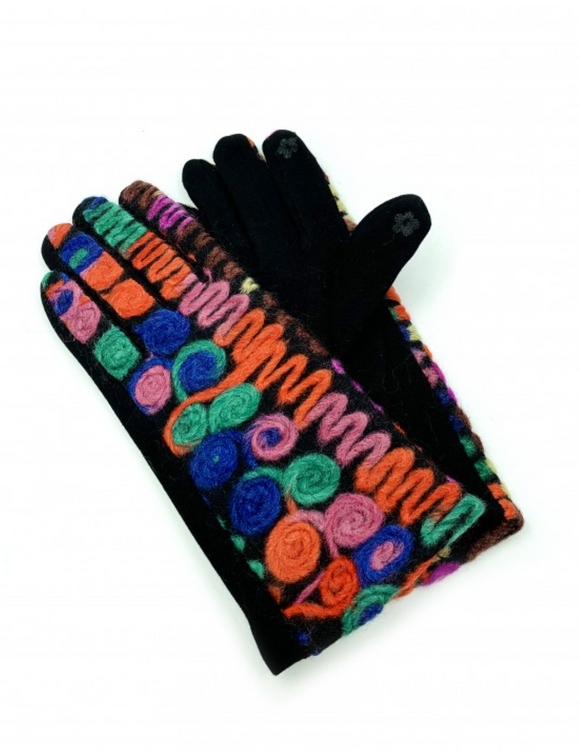 Rainbow Stitch Gloves
