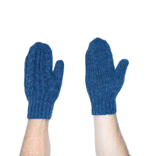 Copy of Copy of HAND KNIT ALPACA MITTENS NAVY