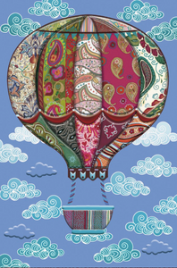 Gilded Hot Air Balloon Card