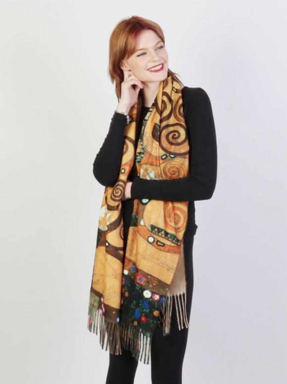 Gustav Klimt The Tree of Life Scarf