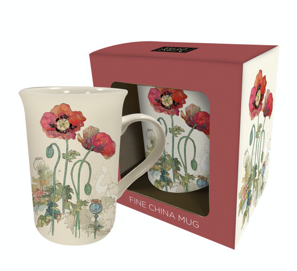 Poppy Porcelain Mug