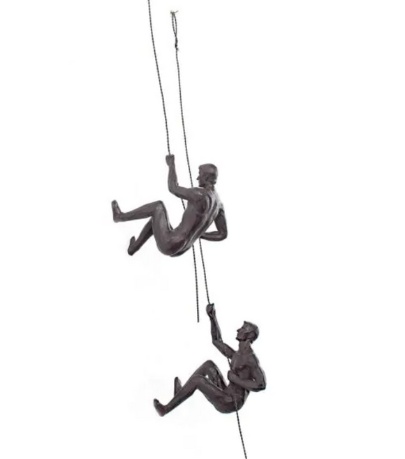 Rock Climber Figurine Sculpture (Pair)