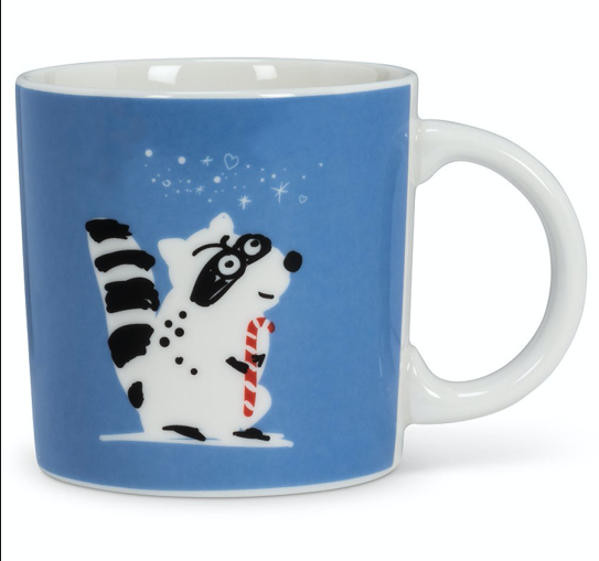 Raccoon & Trash Holiday Mug