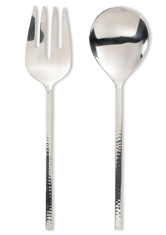 Salad Servers with Hammer Finish Handle