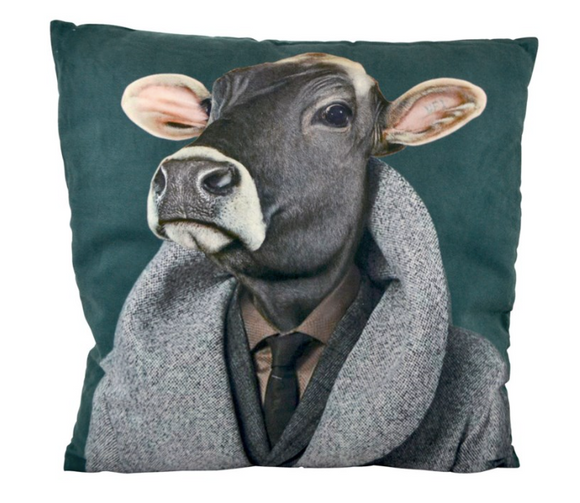 Cow Gentleman Pillow