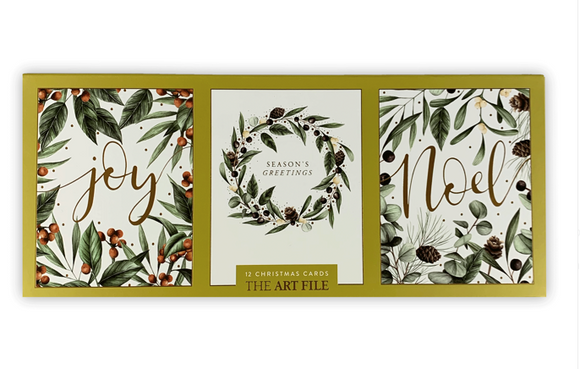 Frosted Botanics Christmas Cards - box of 12