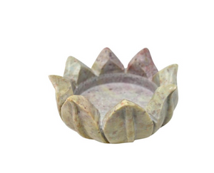 Marble Lotus Candle Holder - Large