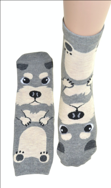 Grey Dog Socks - Women's