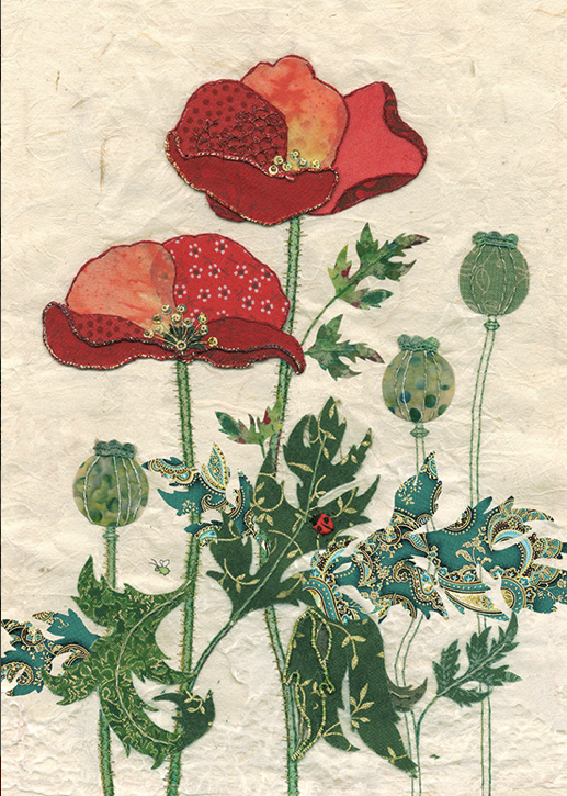 Quilted Poppies Card