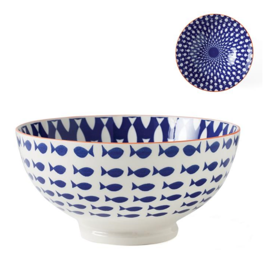 Fish Bowl Porcelain - 56 oz 8