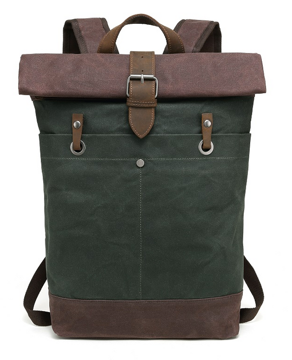 The Road Not Taken Backpack- Forest Green