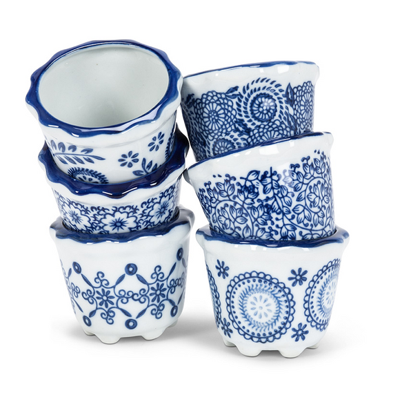 Blue & White Mini Pot