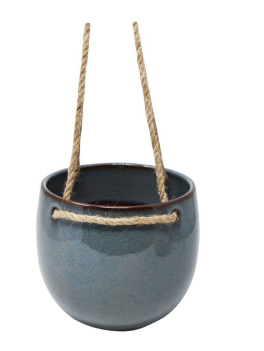 Blue Hanging Planter