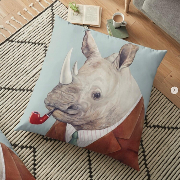 Mr. Rhino Gentleman Cushion