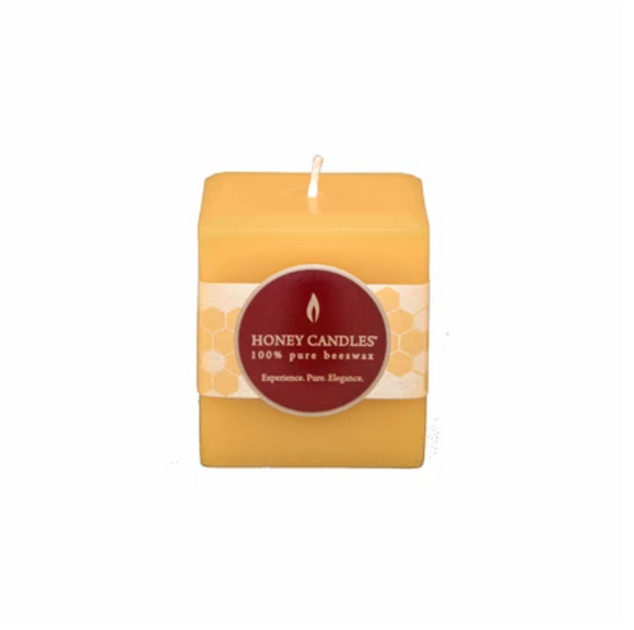 Natural Square Pillar Beeswax Candle 3