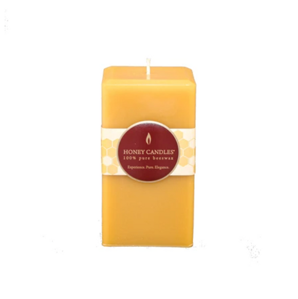 Natural Square Pillar Beeswax Candle 5
