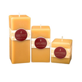 Natural Square Pillar Beeswax Candle 3""