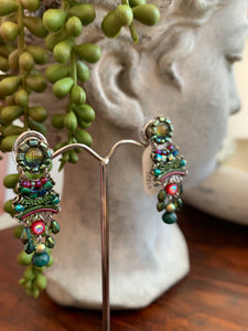 Green Ayala Bar Earrings