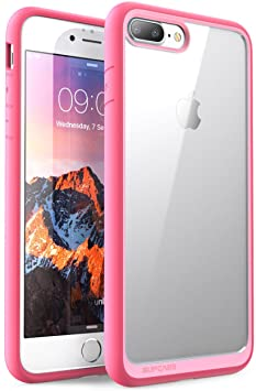 SUPCASE Coque iPhone 8 Plus Coque Transparente Antichoc de Protection  Hybride [Résistant aux Rayures] Unicorn Beetle Style pour iPhone 8 Plus  2017 / iPhone 7 Plus 2016 (Rose)