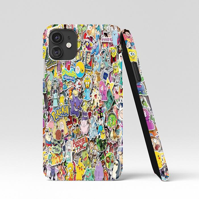 coque custodia cover case fundas hoesjes iphone 11 pro max 5 6 6s 7 8 plus x xs xr se2020 pas cher p8423 America Europe Animation And Pokemon Pikachu Cartoon Sticker