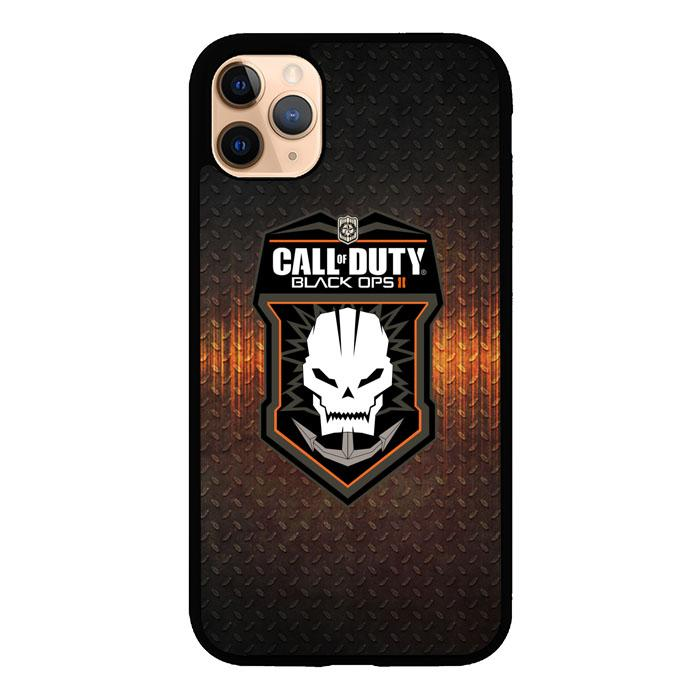 Call Of Duty Black Ops Games Skull Logo Z3674 iPhone 11 Pro Max coque