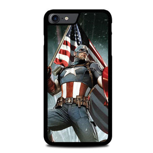 Captain America Cover Z0071 iPhone 7 , iPhone 8 coque