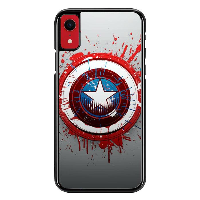 Captain America Logo art Z1656 iPhone XR coque