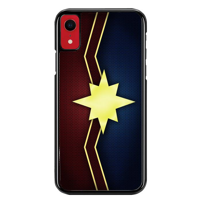 Captain marvel logo carbon Z4126 iPhone XR coque