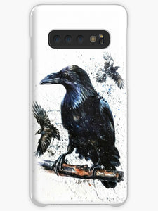 Crow and Skull Collage Coque Samsung S10
