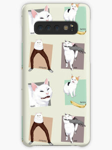 Four Meme Cats of the Apocalypse Coque Samsung S10