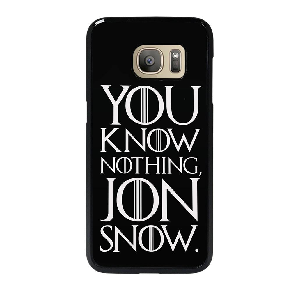 coque custodia cover fundas hoesjes j3 J5 J6 s20 s10 s9 s8 s7 s6 s5 plus edge D24945 GAME OF THRONES KNOW NOTHING JON SNOW 2 Samsung Galaxy S7 Case