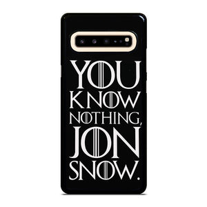 coque custodia cover fundas hoesjes j3 J5 J6 s20 s10 s9 s8 s7 s6 s5 plus edge D24938 GAME OF THRONES KNOW NOTHING JON SNOW 2 Samsung Galaxy S10 5G Case