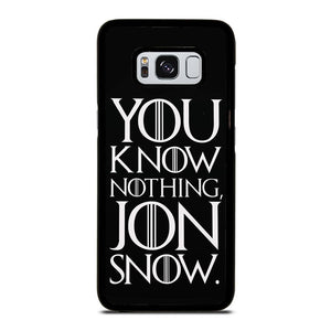 coque custodia cover fundas hoesjes j3 J5 J6 s20 s10 s9 s8 s7 s6 s5 plus edge D24947 GAME OF THRONES KNOW NOTHING JON SNOW 2 Samsung Galaxy S8 Case