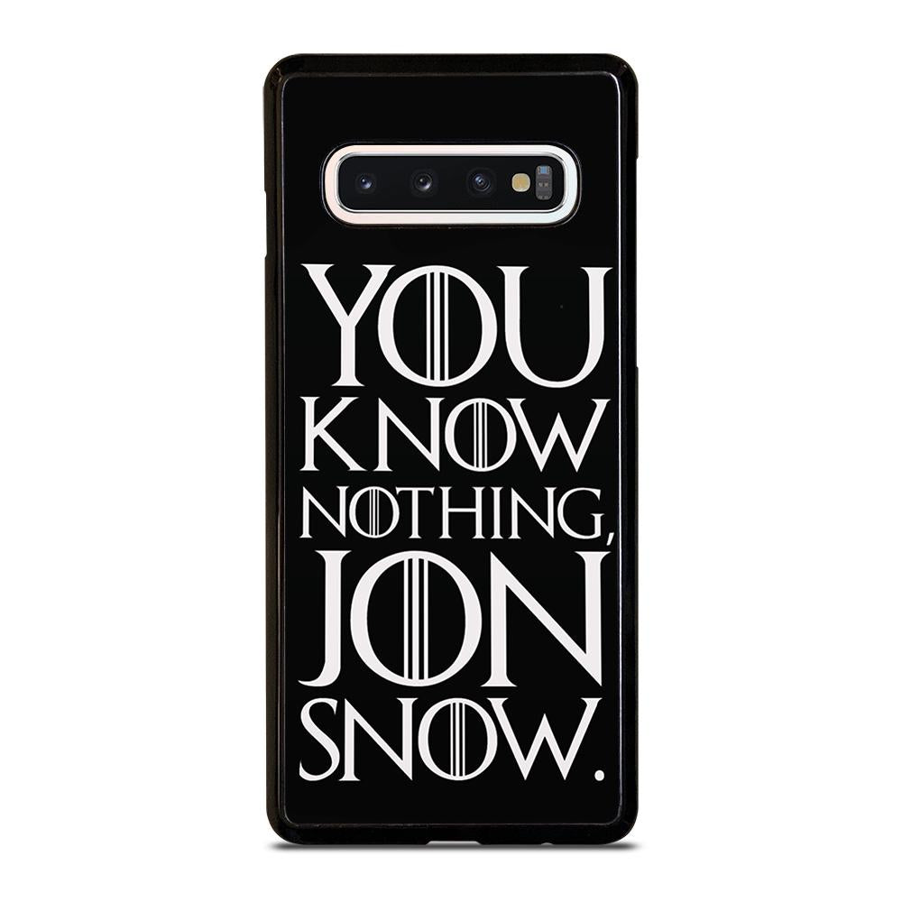 coque custodia cover fundas hoesjes j3 J5 J6 s20 s10 s9 s8 s7 s6 s5 plus edge D24939 GAME OF THRONES KNOW NOTHING JON SNOW 2 Samsung Galaxy S10 Case