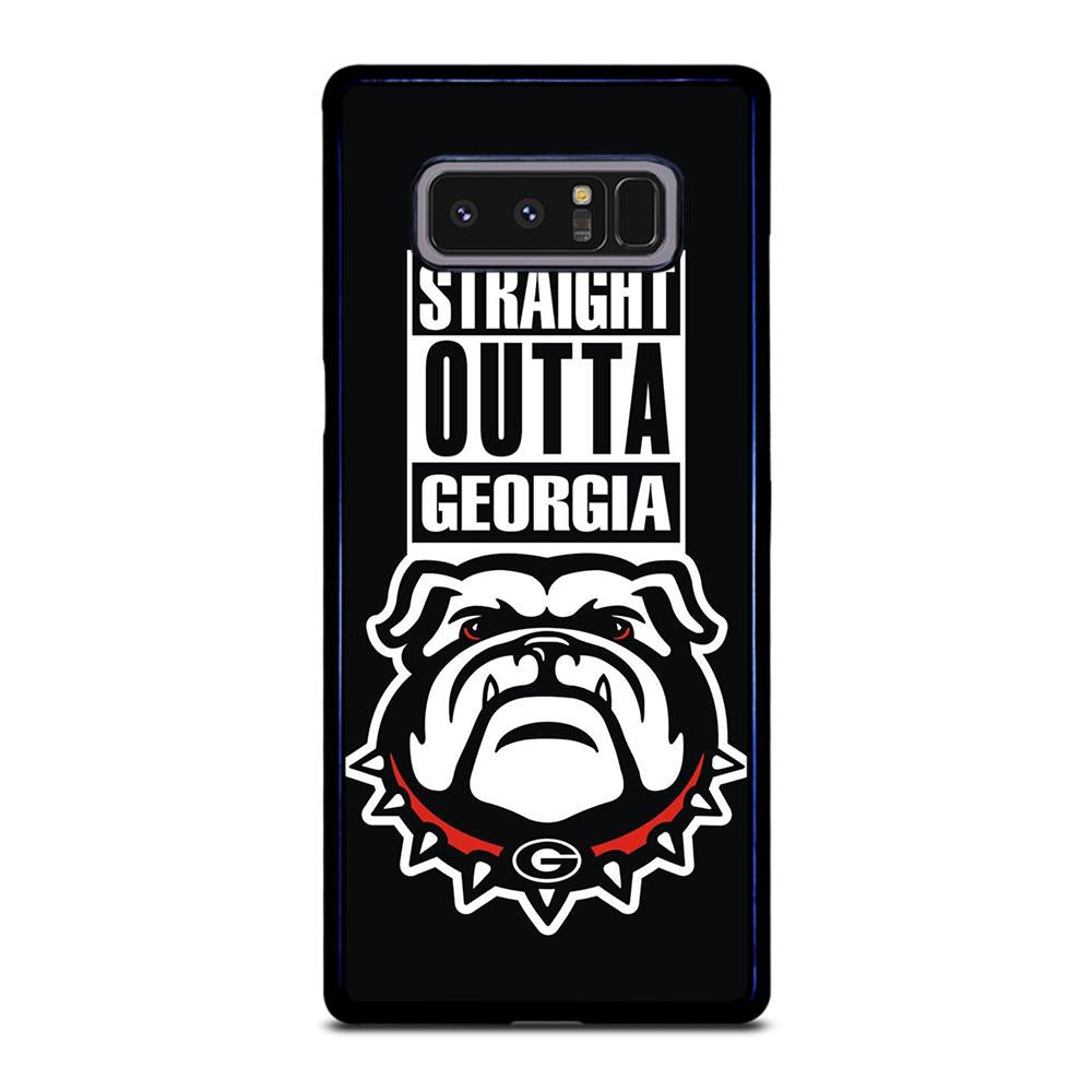 coque custodia cover fundas hoesjes j3 J5 J6 s20 s10 s9 s8 s7 s6 s5 plus edge D25056 GEORGIA BULLDOGS UGA STRAIGHT OUTTA Samsung Galaxy Note 8 Case