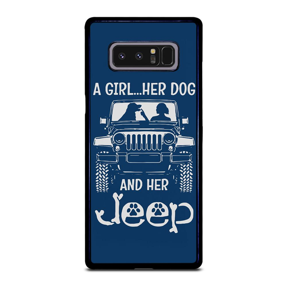 coque custodia cover fundas hoesjes j3 J5 J6 s20 s10 s9 s8 s7 s6 s5 plus edge D25180 GIRL HER DOG & HER JEEP Samsung Galaxy Note 8 Case