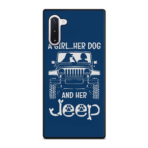 coque custodia cover fundas hoesjes j3 J5 J6 s20 s10 s9 s8 s7 s6 s5 plus edge D25178 GIRL HER DOG & HER JEEP Samsung Galaxy Note 10 Case