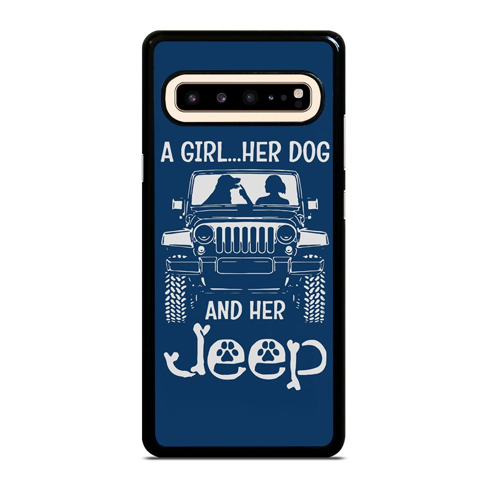 coque custodia cover fundas hoesjes j3 J5 J6 s20 s10 s9 s8 s7 s6 s5 plus edge D25182 GIRL HER DOG & HER JEEP Samsung Galaxy S10 5G Case